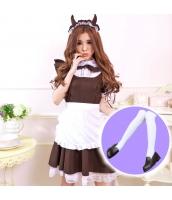 メイド ウェイトレス コスチューム コスプレ ハロウィン 仮装 衣装 4点セット Mサイズ bwn1153-4