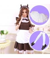 メイド ウェイトレス コスチューム コスプレ ハロウィン 仮装 衣装 5点セット Mサイズ bwn1153-6