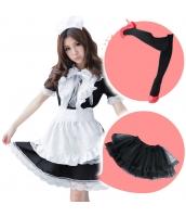 メイド ウェイトレス コスチューム コスプレ ハロウィン 仮装 衣装 6点セット Lサイズ bwn1166-1