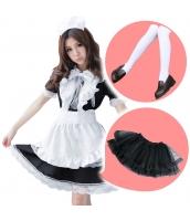 メイド ウェイトレス コスチューム コスプレ ハロウィン 仮装 衣装 6点セット Lサイズ bwn1166-2