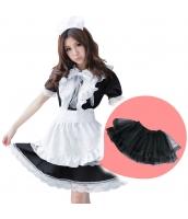 メイド ウェイトレス コスチューム コスプレ ハロウィン 仮装 衣装 5点セット Lサイズ bwn1166-3