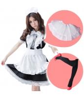 メイド ウェイトレス コスチューム コスプレ ハロウィン 仮装 衣装 6点セット Lサイズ bwn1166-4