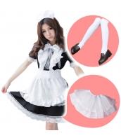 メイド ウェイトレス コスチューム コスプレ ハロウィン 仮装 衣装 6点セット Lサイズ bwn1166-6