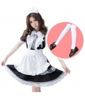 メイド ウェイトレス コスチューム コスプレ ハロウィン 仮装 衣装 5点セット Lサイズ bwn1166-7