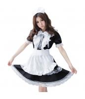 メイド ウェイトレス コスチューム コスプレ ハロウィン 仮装 衣装 4点セット Lサイズ bwn1166-8