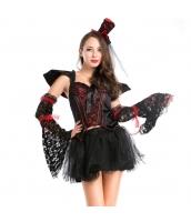 ハロウィン 仮装衣装 コスチューム コスプレ バンパイアクイーン 6点セット bwn1187-1