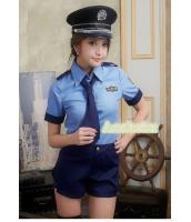 警官 婦警 ポリス 警察 制服 コスチューム コスプレ ハロウィン 仮装 衣装 4点セット Lサイズ bwn1193-2