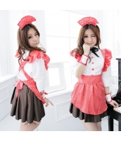 メイド ウェイトレス コスチューム コスプレ ハロウィン 仮装 衣装 6点セット bwn1197-1