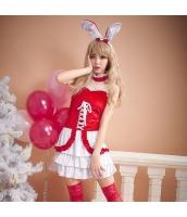 クリスマス レディースサンタクロース バニーガール コスチューム コスプレ 仮装 衣装 バニーサンタクロース 4点セット bwn1206-1