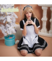 メイド ウェイトレス コスチューム コスプレ ハロウィン 仮装 衣装 3点セット bwn1217-1