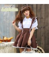 メイド ウェイトレス コスチューム コスプレ ハロウィン 仮装 衣装 4点セット bwn1231-1
