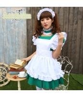メイド ウェイトレス コスチューム コスプレ ハロウィン 仮装 衣装 4点セット bwn1232-1