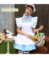 メイド ウェイトレス コスチューム コスプレ ハロウィン 仮装 衣装 4点セット bwn1232-2