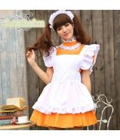 メイド ウェイトレス コスチューム コスプレ ハロウィン 仮装 衣装 4点セット bwn1232-3
