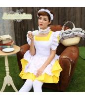 メイド ウェイトレス コスチューム コスプレ ハロウィン 仮装 衣装 4点セット bwn1232-4