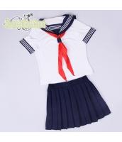 コスチューム コスプレ ハロウィン 仮装 衣装 女子高生制服 セーラー服 半袖3点セット Mサイズ bwn1238-1