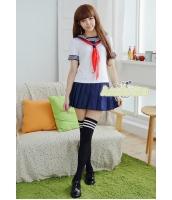 コスチューム コスプレ ハロウィン 仮装 衣装 女子高生制服 セーラー服 半袖3点セット Lサイズ bwn1238-3