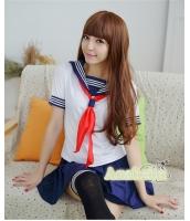コスチューム コスプレ ハロウィン 仮装 衣装 女子高生制服 セーラー服 半袖3点セット XLサイズ bwn1238-5