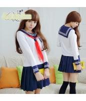 コスチューム コスプレ ハロウィン 仮装 衣装 女子高生制服 セーラー服 長袖3点セット Mサイズ bwn1238-2