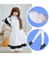 メイド ウェイトレス コスチューム コスプレ ハロウィン 仮装 衣装 5点セット Sサイズ bwn1259-2