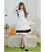メイド ウェイトレス コスチューム コスプレ ハロウィン 仮装 衣装 5点セット Mサイズ bwn1259-6