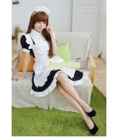 メイド ウェイトレス コスチューム コスプレ ハロウィン 仮装 衣装 4点セット Lサイズ bwn1259-12