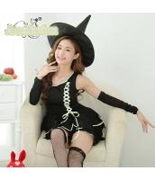 ハロウィン 魔女 コスチューム コスプレ 仮装 衣装 ウィッチ 4点セット bwn1266-1