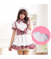 メイド ウェイトレス コスチューム コスプレ ハロウィン 仮装 衣装 5点セット bwn1280-5