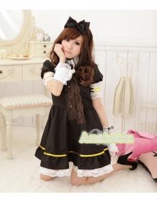 メイド ウェイトレス コスチューム コスプレ ハロウィン 仮装 衣装 5点セット Lサイズ bwn1284-3