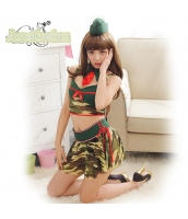 ミリタリー アーミー 軍人 女戦士 コスチューム コスプレ ハロウィン 仮装 衣装 5点セット bwn1296-1