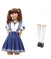 コスチューム コスプレ ハロウィン 仮装 衣装 女子高生制服 セーラー服 3点セット Mサイズ bwn1310-7