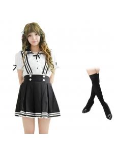コスチューム コスプレ ハロウィン 仮装 衣装 女子高生制服 セーラー服 3点セット XLサイズ bwn1310-20