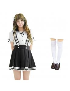 コスチューム コスプレ ハロウィン 仮装 衣装 女子高生制服 セーラー服 3点セット XLサイズ bwn1310-22