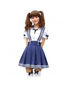 コスチューム コスプレ ハロウィン 仮装 衣装 女子高生制服 セーラー服 2点セット XLサイズ bwn1310-24