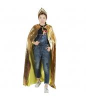 ハロウィン仮装コスチューム 王冠・ティアラ+マント+ステッキ・杖・笏 3点セット hw0004-20