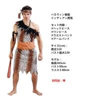 ハロウィン仮装コスチューム インディアン男性 コスチューム 4点セット hw0005-13