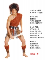 ハロウィン仮装コスチューム インディアン男性 コスチューム 5点セット hw0005-5