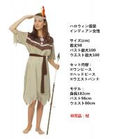 ハロウィン仮装コスチューム インディアン女性 コスチューム 3点セット hw0005-6