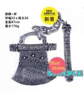囚人コスプレ ハロウィン仮装 コスチューム コスプレ小道具 鉄棒+斧 hw0008-8