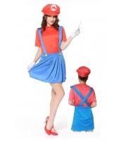 スーパーマリオ コスチューム ハロウィン仮装 コスプレ 女性版 マリオ hw0009-5