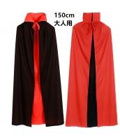ハロウィン仮装 男女とも着用可 リバーシブル ウィッチマント 150cm hw0015-3