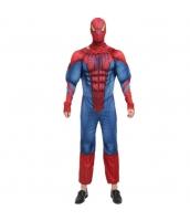 ハロウィン仮装 コスチューム コスプレ スパイダーマン 2点セット 筋肉ジャンプスーツ+フードマスク hw0016-11