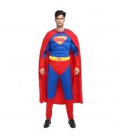 ハロウィン仮装 コスチューム コスプレ スーパーマン 2点セット 筋肉ジャンプスーツ+マント hw0016-13