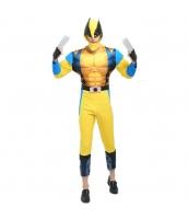 ハロウィン仮装 コスチューム コスプレ X-Men ウルヴァリン 2点セット ジャンプスーツ+フードマスク hw0016-15