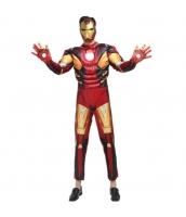ハロウィン仮装 コスチューム コスプレ アベンジャーズ アイアンマン 2点セット 筋肉ジャンプスーツ+マスク hw0016-19