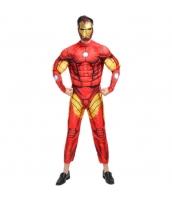 ハロウィン仮装 コスチューム コスプレ アベンジャーズ アイアンマン 2点セット 筋肉ジャンプスーツ+マスク hw0016-21