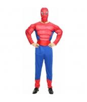 ハロウィン仮装 コスチューム コスプレ スパイダーマン 3点セット 筋肉ジャンプスーツ+フードマスク+ウエストバンド hw0016-22