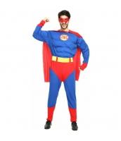 ハロウィン仮装 コスチューム コスプレ スーパーマン 4点セット 筋肉ジャンプスーツ+マント+アイマスク+ウエストバンド hw0016-24