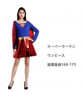 ハロウィン仮装 スチューム コスプレ スーパーウーマン   ワンピース hw0024-19