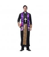 ハロウィン仮装 コスチューム コスプレ 宣教師 Sサイズ 4点セット ワンピース+ネックレス+スカーフ+ウエストバンド(道具含まず) hw0025-13